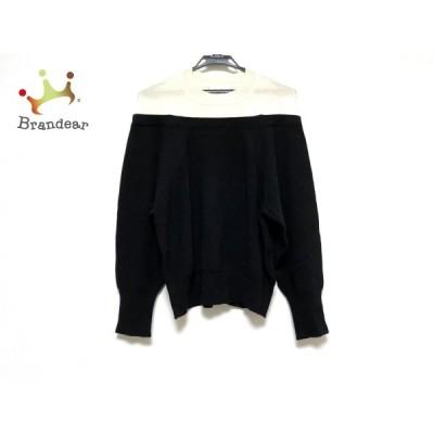 エレンディーク ELENDEEK 七分袖セーター サイズF レディース 黒×アイボリー 新着 20201103