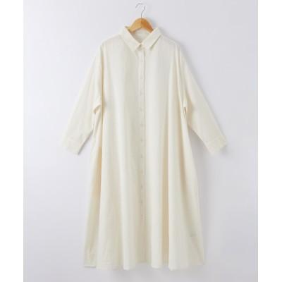 綿ガーゼ シャツワンピース (ワンピース)Dress