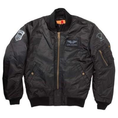 ALPHA INDUSTRIES ALVA-1811W MA-1 M/C ウィンタージャケット ブラック XLサイズ