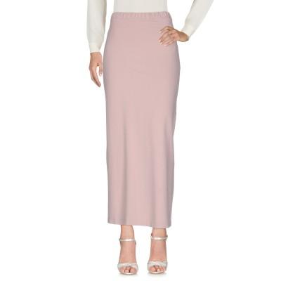 アルファスタジオ ALPHA STUDIO ロングスカート ライトピンク 42 コットン 95% / ポリウレタン 5% ロングスカート