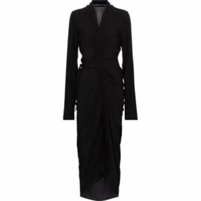 リック オウエンス Rick Owens レディース ワンピース マキシ丈 ワンピース・ドレス Crepe maxi dress Black