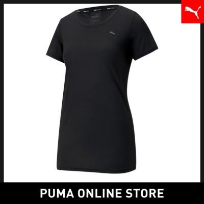 プーマレディース ランニング トレーニング Tシャツ PUMA スタジオ ヨガ ウィメンズ レース キーホール 半袖 Tシャツ