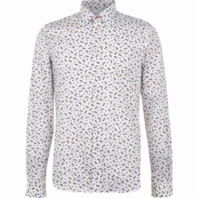 ポールスミス Paul Smith Tailoring メンズ シャツ トップス Paul Long Sleeve Floral Shirt White