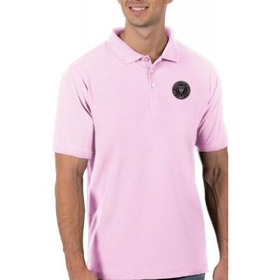 アンティグア Antigua メンズ ポロシャツ トップス Inter Miami CF Pink Legacy Pique Polo