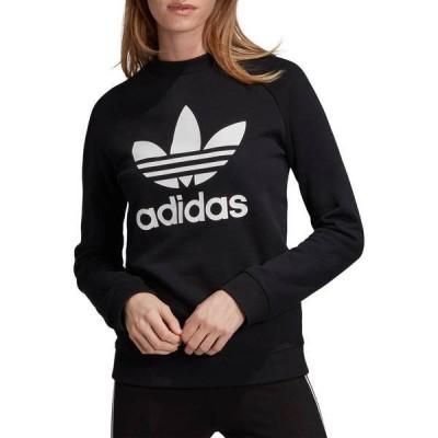 アディダス レディース パーカー・スウェット アウター adidas Originals Women's Trefoil Crew Sweatshirt