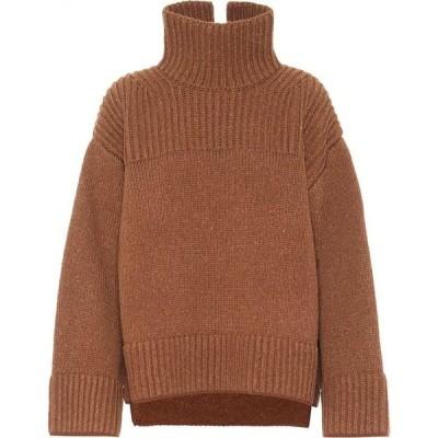 アクネ ストゥディオズ Acne Studios レディース ニット・セーター トップス Oversized Turtleneck Sweater Almond Brown