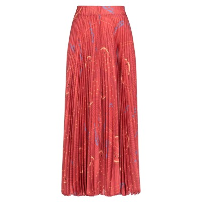 OLLA PARÉG ロングスカート 赤茶色 44 ポリエステル 100% ロングスカート