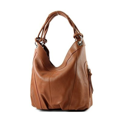 Italian women's bag handbag shoulder bag leather bag nappa leather Z18, Colour:Cognac leather 並行輸入品