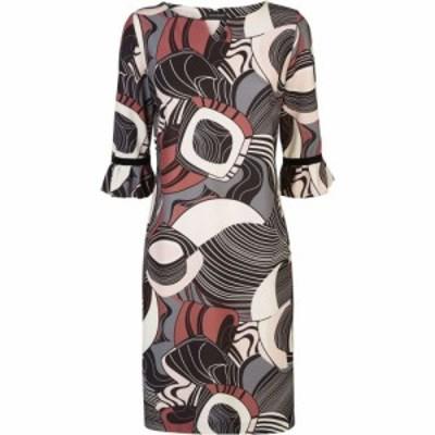ジュームズ レイクランド James Lakeland レディース ワンピース ワンピース・ドレス Abstract Ruffle Cuff Dress Print