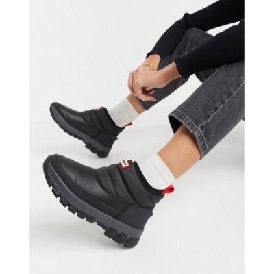 ハンター Hunter レディース ブーツ スノーブーツ シューズ・靴 Original insulated snow boots in black ブラック