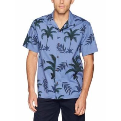 lucky ラッキー ファッション アウター Lucky Brand NEW Blue Mens Size Medium M Palm Tree Button Down Shirt