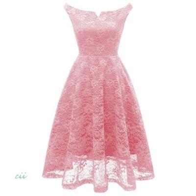 ドレス ワンピース 結婚式 パーティー 40代 大きいサイズ チュール ひざ丈 体型カバー 服 レース 刺繍 20代 30代 ドレス