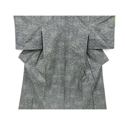 リサイクル 未使用品 抽象草葉模様織り出し本場泥大島紬着物(5マルキ)