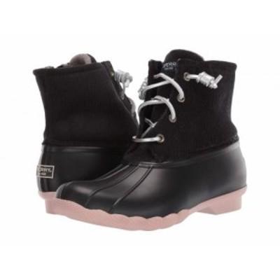 Sperry スペリー レディース 女性用 シューズ 靴 ブーツ レインブーツ Saltwater Corduroy Black/Rose【送料無料】
