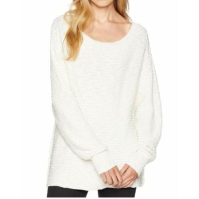 Free People フリーピープル ファッション トップス Free People Womens White Ivory Size Large L Crewneck Tunic Sweater