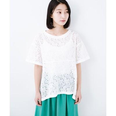 【ハコ】Tシャツ感覚で着られる便利なレースブラウス