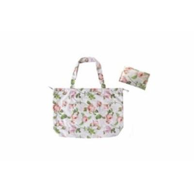 【オリジナル】レインバッグ【パールピンク】【ローズ】【花】【花柄】【ショッピングバッグ】【買い物】【バッグ】【カバン】【鞄】【か