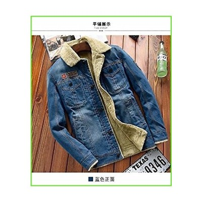 TAPOO Men's Classic Button Front Rugged Sherpa Lined Denim Trucker Jackets【並行輸入】【新品】