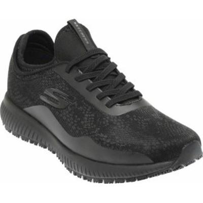スケッチャーズ レディース スニーカー シューズ Women's Skechers Squad SR Glistle Sneaker Black