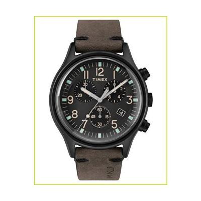 Timex TW2R96500 メンズ クロノグラフ クォーツ腕時計 レザーストラップ付き