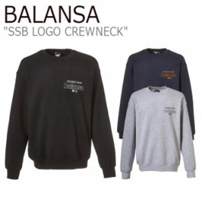 バランサ トレーナー BALANSA SSB LOGO CREWNECK SSB ロゴ クルーネック BLACK WHITE NAVY YELLOW GREY BLACK 1010079679/80/81 ウェア