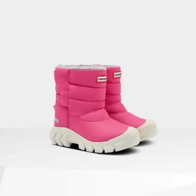 ブーツ キッズ 長靴 子供 ショートブーツ ORIGINAL KIDS SNOW BOOTS BRIGHT PINK  (HUN)(QCB02)