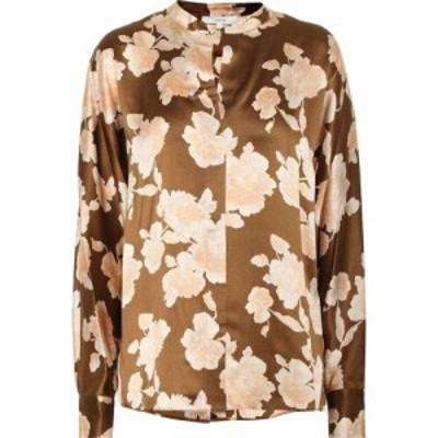 ヴィンス Vince レディース ブラウス・シャツ トップス floral silk satin blouse Amber