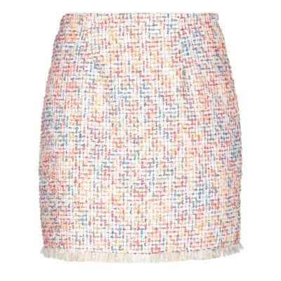 スーベニア SOUVENIR ミニスカート ホワイト S ポリエステル 100% ミニスカート