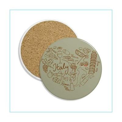新品Love Wine Italy Grape Foods Coaster Cup Mug Tabletop Protection Absorbent Stone