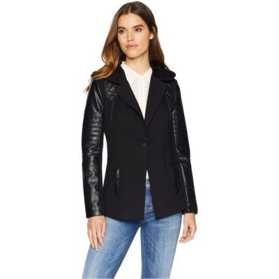 ブラン ノワール Blanc Noir レディース スーツ・ジャケット フード アウター Hooded Blazer Jacket Black