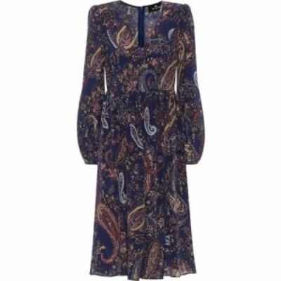 エトロ Etro レディース ワンピース ワンピース・ドレス Silk Crepe De Chine Midi Dress