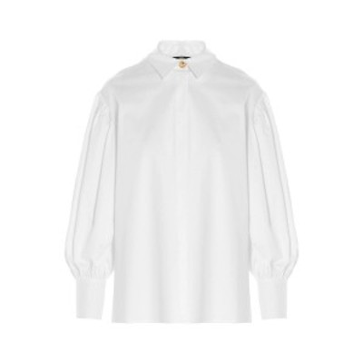 ELISABETTA FRANCHI/エリザベッタ フランキ White Logo button shirt レディース 春夏2021 CA32413E2100 ju