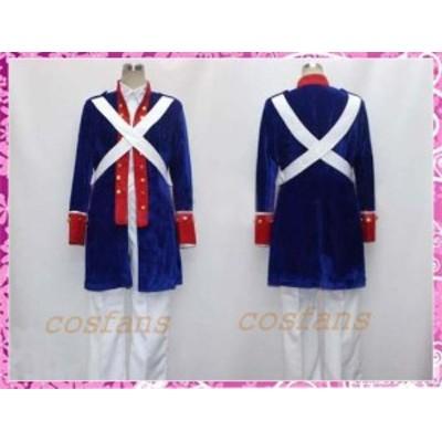 コスプレ衣装 ヘタリア アメリカ 独立戦争 ベロア生地