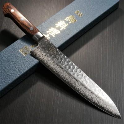 包丁 牛刀 210mm V金10号 ダマスカス ステンレス 7寸 一心刃物 関市 日本製