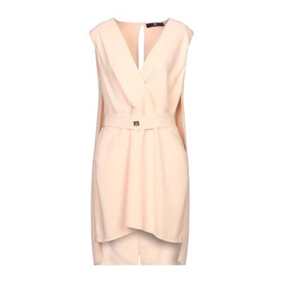 ELISABETTA FRANCHI ミニワンピース&ドレス ベージュ 44 レーヨン 88% / バージンウール 12% ミニワンピース&ドレス