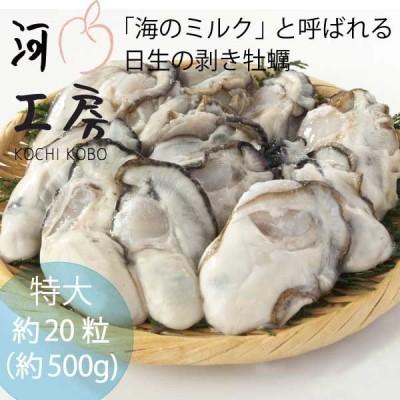 牡蠣 特大 むき牡蠣 むき身 日生 約20-30粒 約500g #元気いただきますプロジェクト Oyster 加熱用 カキオコに最適 1月末まで送料無料