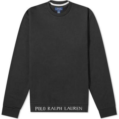 ラルフ ローレン Polo Ralph Lauren メンズ スウェット・トレーナー トップス Logo Rib Sleepwear Crew Sweat Black