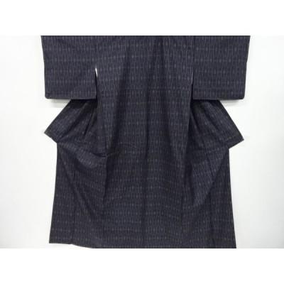 宗sou 幾何学模様織出本場泥大島紬着物(5マルキ)【リサイクル】【着】