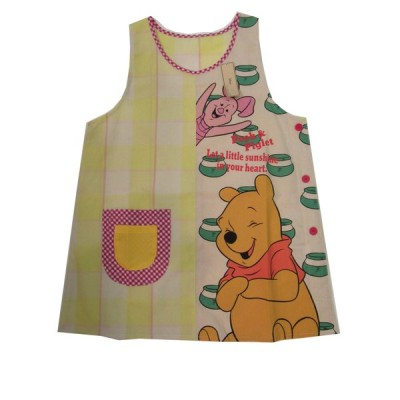 エプロン キッチンファブリック エプロン ディズニー 可愛い Disney くまのプーさん&ピグレット エプロン サービス品 イエロー 52005028