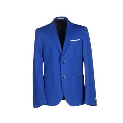 グレイ ダニエレ アレッサンドリーニ GREY DANIELE ALESSANDRINI テーラードジャケット ブルー 54 コットン 97% /