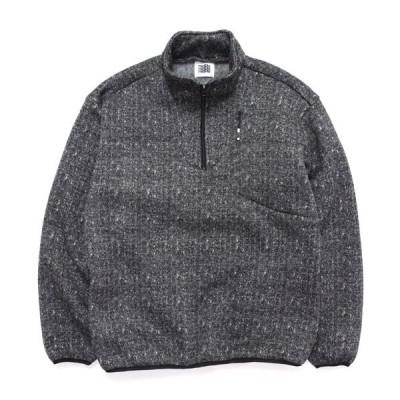 melple メイプル Marced Stand Pullover (ブラック)(フリースプルオーバー)