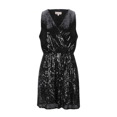 コンタット KONTATTO ミニワンピース&ドレス ブラック S ポリエステル 95% / ポリウレタン 5% ミニワンピース&ドレス