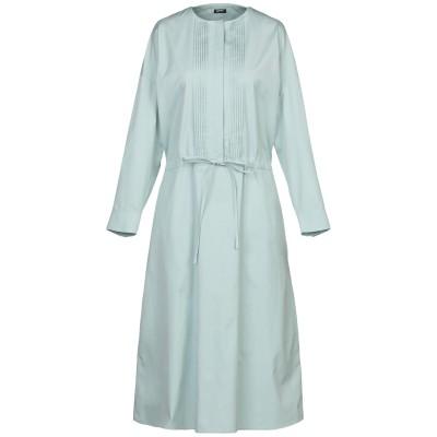 JIL SANDER NAVY 7分丈ワンピース・ドレス ライトグリーン 36 コットン 100% 7分丈ワンピース・ドレス