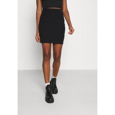 エブンアンドオッド レディース スカート ボトムス Basic mini ribbed skirt - Pencil skirt - black black