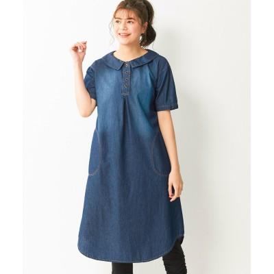 大きいサイズ 綿100%5分袖ドロップショルダーワンピース ,スマイルランド, ワンピース, plus size dress