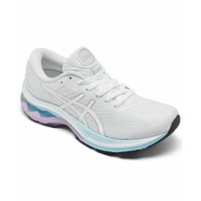 アシックス レディース スニーカー シューズ Women's Gel-Kayano 27 Running Sneakers from Finish Line White Pure Silver