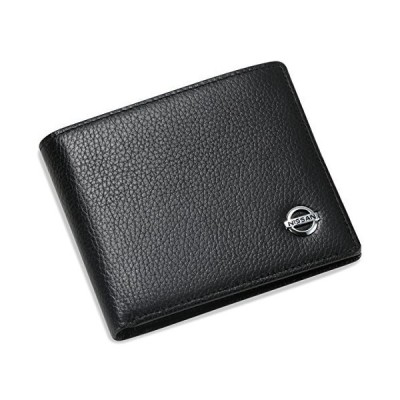Nissan Bifold Wallet with 3 Credit Card Slots and ID Window - Genuine Leather