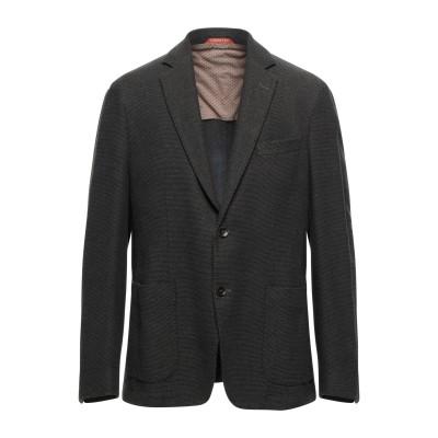 BRECO'S テーラードジャケット カーキ 52 コットン 90% / ポリエステル 10% テーラードジャケット