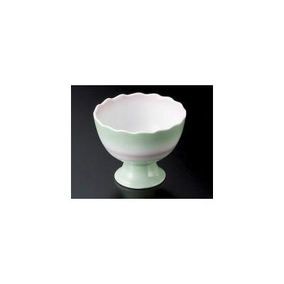 二色吹菊型高台3.6小鉢/大きさ・9.5×7.5cm