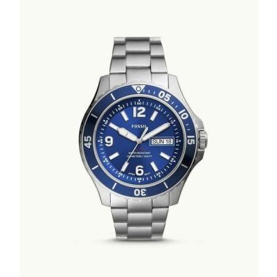 フォッシル 腕時計 Fossil メンズ FB-02 Three-Hand Date Stainless Steel Watch FS5691